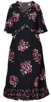 NEW! Plus Size Black Ruffled Floral Maxi Dress Size 2x 3x