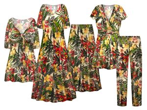 NEW! Plus Size Blossoming Humidity Print SLINKY Dresses Shirts Jackets Pants Palazzo�s & Skirts Customizable Sizes Lg to 9x