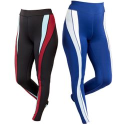 NEW! Plus Size Blue or Burgundy Color Blocked Performance Leggings 4x 5x