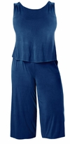 SALE! Plus Size Blue Sleeveless Wide Leg Jumpsuit Size 3x 4x