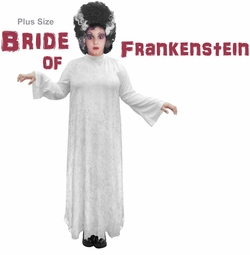 SALE! Plus Size Bride of Frankenstein Halloween Costume Sizes Lg XL 1x 2x 3x 4x 5x 6x 7x 8x 9x