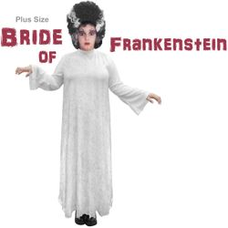 NEW! Plus Size Bride of Frankenstein Halloween Costume Sizes Lg XL 1x 2x 3x 4x 5x 6x 7x 8x 9x