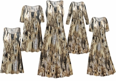 SALE! Plus Size Brown Snake Print SLINKY Dresses Shirts Jackets Pants Palazzo�s & Skirts - Sizes Lg to 9x