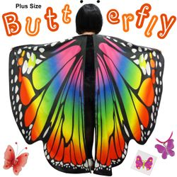 NEW! Plus Size Rainbow Butterfly Fairy Halloween Costume Lg XL 0x 1x 2x 3x 4x 5x 6x 7x 8x 9x