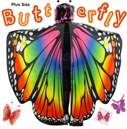 NEW! Plus Size Butterfly Halloween Costume Lg XL 0x 1x 2x 3x 4x 5x 6x 7x 8x 9x