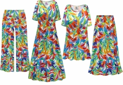 NEW! Plus Size Feathers Slinky Dresses Shirts Jackets Pants Palazzo�s & Skirts - Sizes Lg to 9x