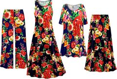 Plus Size Floral Print Slinky Dresses Shirts Jackets Pants Palazzo�s & Skirts - Sizes Lg to 9x