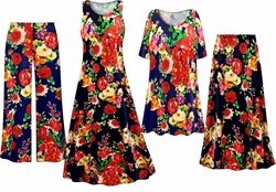 SOLD OUT! Plus Size Floral Print Slinky Dresses Shirts Jackets Pants Palazzo�s & Skirts - Sizes Lg to 9x
