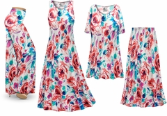 SALE! Plus Size Floral Slinky Dresses Shirts Jackets Pants Palazzo�s & Skirts - Sizes Lg to 9x
