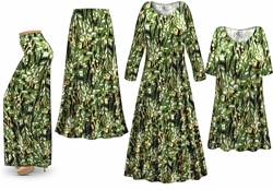 SOLD OUT! Plus Size Forest Print Slinky Dresses Shirts Jackets Pants Palazzo�s & Skirts - Sizes Lg to 9x
