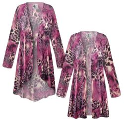 NEW! Plus Size Fresh Fuchsia Shimmer Print SLINKY Jackets & Dusters Customizable L XL 1x 2x 3x 4x 5x 6x 7x 8x 9x