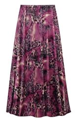 NEW! Plus Size Fresh Fuchsia Shimmer Print SLINKY Skirts Customizable L XL 1x 2x 3x 4x 5x 6x 7x 8x 9x