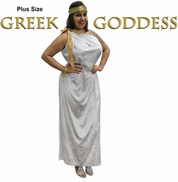 NEW! Plus Size Greek Goddess Halloween Costume Lg XL 0x 1x 2x 3x 4x 5x 6x 7x 8x 9x