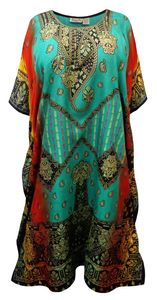 NEW! Plus Size Hot Air Balloon Print Long Caftan Dress or Shirt 1x-6x