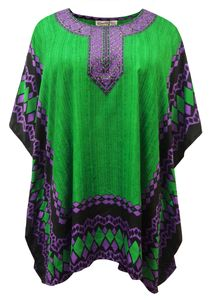 NEW! Plus Size Jeweled Eucalyptus Cleanse Print Short Caftan Dress or Shirt 1x-6x