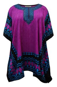 NEW! Plus Size Jeweled Murex Brandaris Print Short Caftan Dress or Shirt 1x-6x