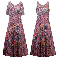 NEW! Plus Size Kaleidoscope Print Princess Cut Ultra Soft Dress Customizable 0x 1x 2x 3x 4x 5x 6x 7x 8x 9x