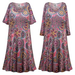NEW! Plus Size Kaleidoscope Print Sleep Gown - Muumuu - Moo Moo Dress Customizable 0x 1x 2x 3x 4x 5x 6x 7x 8x 9x