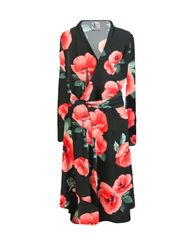 NEW! Plus Size Light Weight Delilah Floral Print Ultra Soft Brushed Robe with Attached Belt 0x 1x 2x 3x 4x 5x 6x 7x 8x 9x