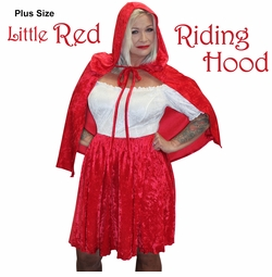 NEW! Plus Size Little Red Riding Hood Halloween Costume  Lg XL 1x 2x 3x 4x 5x 6x 7x 8x 9x