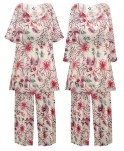 NEW! Plus Size Meadow Nymph Print Ultra Soft 2 Piece Pajama Pant Set Customizable 0x 1x 2x 3x 4x 5x 6x 7x 8x 9x