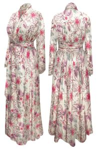 NEW! Plus Size Meadow Nymph Print Ultra Soft Robe with Attached Belt Customizable 0x 1x 2x 3x 4x 5x 6x 7x 8x 9x