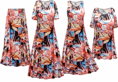 NEW! Plus Size Metallic Floral Abstract Slinky Dresses Shirts Jackets Pants Palazzo�s & Skirts - Sizes Lg to 9x