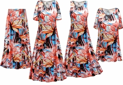 SOLD OUT! Plus Size Metallic Floral Abstract Slinky Dresses Shirts Jackets Pants Palazzo�s & Skirts - Sizes Lg to 9x