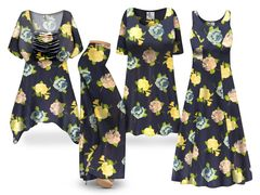 Plus Size Middleton Floral Print SLINKY Dresses Tops Skirts Pants Palazzo�s & Skirts - Sizes Lg to 9x