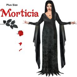 NEW! Plus Size Morticia Costume - Sizes Lg XL 0x 1x 2x 3x 4x 5x 6x 7x 8x