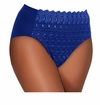 SALE! Plus Size Navy Embroidered Hi-Cut Brief Size 14 15 16