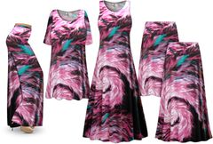 NEW! Plus Size New Feather Dance Print SLINKY Dresses Shirts Jackets Pants Palazzo�s & Skirts - Sizes Lg to 9x
