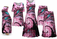 SALE! Plus Size New Feather Dance Print SLINKY Dresses Shirts Jackets Pants Palazzo�s & Skirts - Sizes Lg to 9x