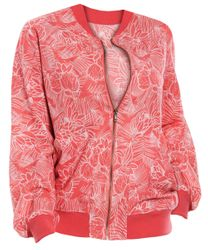 SALE! Plus Size Orange Jungle Linen Bomber Jacket Size 3x 4x