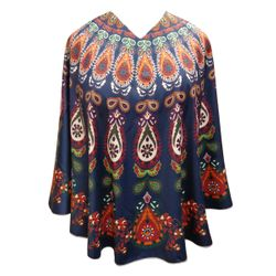 NEW! Plus Size Teardrop Light Weight Ponchos Cover Ups - One Size