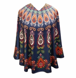 SOLD OUT! Plus Size Teardrop Light Weight Ponchos Cover Ups - One Size