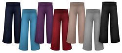 NEW! Plus Size Solid Color Wide Waistband Palazzo Pants Customizable XL 0x 1x 2x 3x 4x 5x 6x 7x 8x 9x