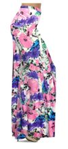 CLEARANCE! Pink, Purple, and Blue Bellflowers Print Plus Size & Supersize Palazzo Pants 3x