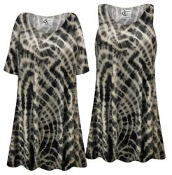 NEW! Plus Size Black Pool Tie Dye Short or Long Sleeve Shirts - Tunics - Tank Tops Customizable L XL 1x 2x 3x 4x 5x 6x 7x 8x 9x