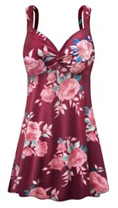 NEW! Plus Size Pink Floral Print Princess Swimdress Customizable 0x 1x 2x 3x 4x 5x 6x 7x 8x