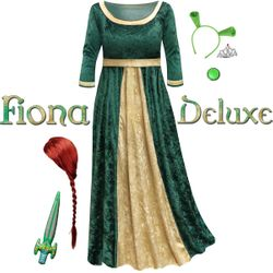 NEW! Plus Size Princess Fiona Deluxe Halloween Costume & Accessories! Plus Size S M L XL 0x 1x 2x 3x 4x 5x 6x 7x 8x 9x