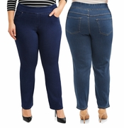 SALE! Plus Size Pull On 4 Pocket Tummy Control Stretchy Jeans Size  1x