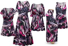 NEW! Plus Size Purple Daze Print Slinky Dresses Shirts Jackets Pants Palazzo�s & Skirts - Sizes L to 9x