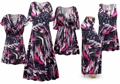 SALE! Plus Size Purple Daze Print Slinky Dresses Shirts Jackets Pants Palazzo�s & Skirts - Sizes L to 9x