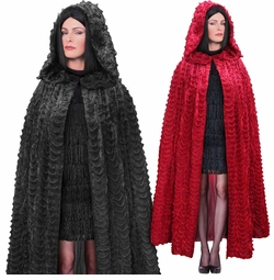 NEW! SALE! Plus Size Ruffled Sparkly Red or Black Halloween Costume Cape 1x 2x 3x 4x 5x 6x 7x 8x