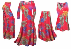 SOLD OUT! Plus Size Tropical Flowers Print Slinky Dresses Shirts Jackets Pants Palazzo�s & Skirts - Sizes Lg to 9x