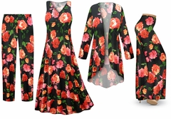 NEW! Plus Size Roses Slinky Dresses Shirts Jackets Pants Palazzo�s & Skirts - Sizes Lg to 9x