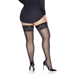 NEW! Plus Size Sheer Black Lace Thigh High Stocking Size 1x/2x & 3x/4x