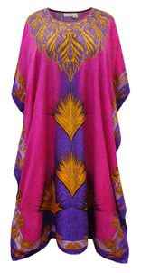 NEW! Plus Size Silk Trade Print Long Caftan Dress or Shirt 1x-6x