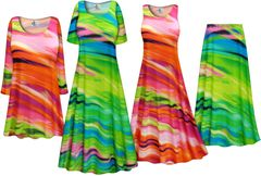 NEW! Plus Size Spring Song Print Slinky Dresses Shirts Jackets Pants Palazzo�s & Skirts - Sizes Lg to 9x